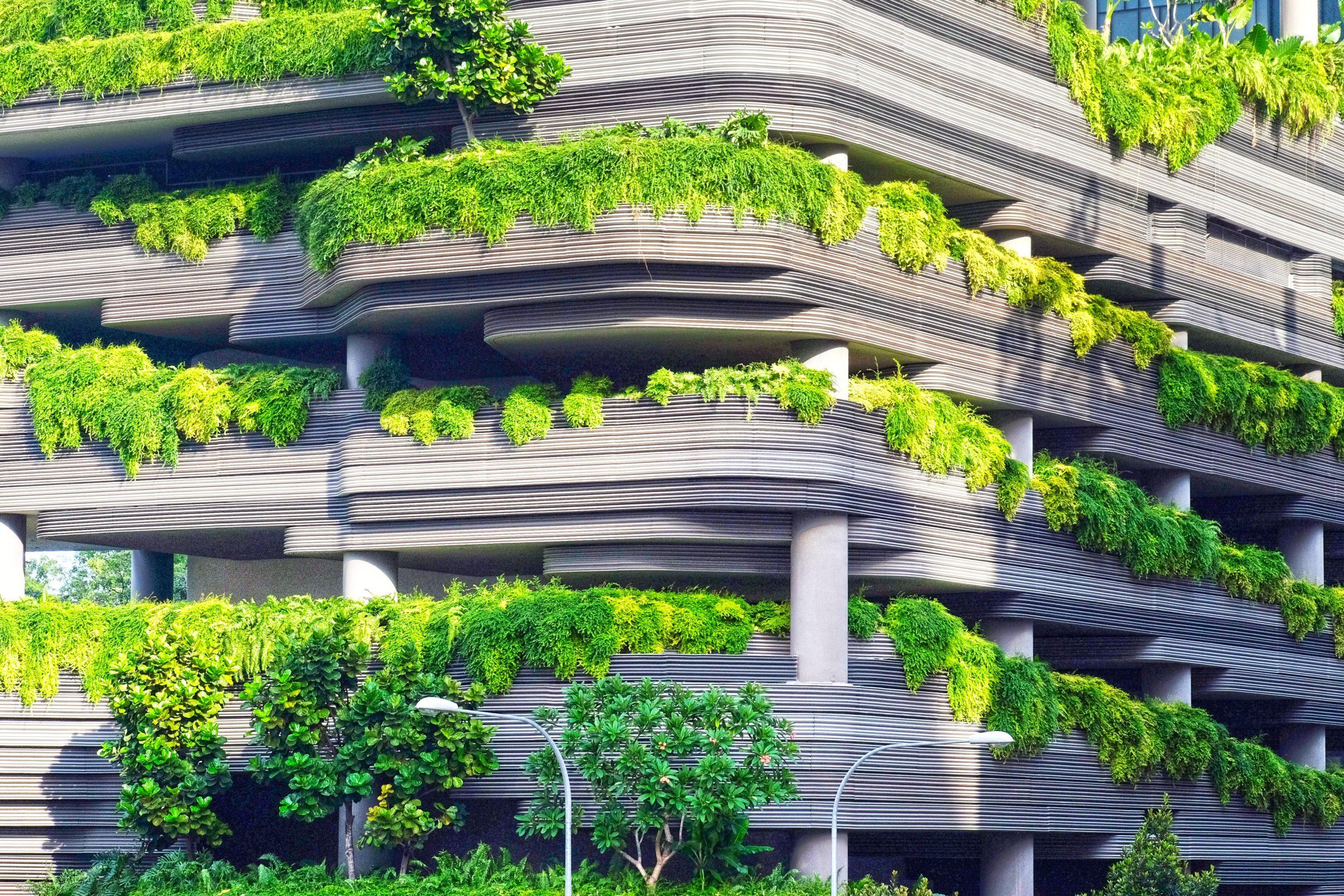 Bepflanztes Gebäude